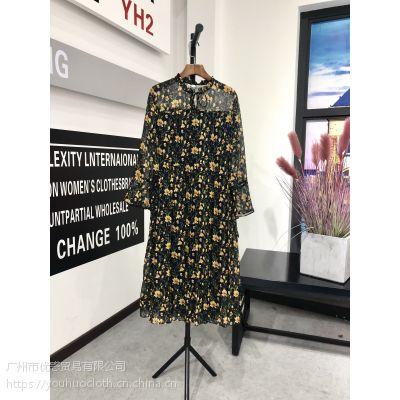 武汉品牌 贝芙妮第二批18秋装折扣女装一手货源分份走份批发