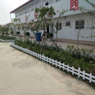 江苏盐城亭湖 塑钢护栏施工pvc草坪围栏厂家
