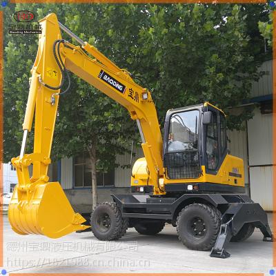 宝鼎小型轮式挖掘机,质量优,价格低,性能可靠