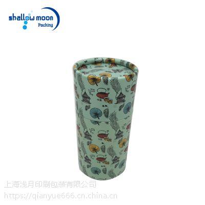 彩色卡通印花 圆筒盒 圆筒包装盒 通用纸罐