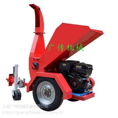 汽油大型树枝粉碎机街道干湿树树木粉碎机碎木机秸秆粉碎机