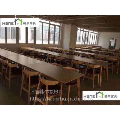 供应江浙沪职工餐厅桌椅安装餐桌椅价格 工厂餐桌的规格 韩尔现代品牌