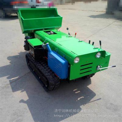 润林自走式履带旋耕机 电启动履带旋耕机 开沟施肥回填一体机