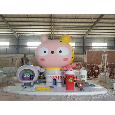 浙江杭州商场美陈雕塑大型形象卡通雕塑