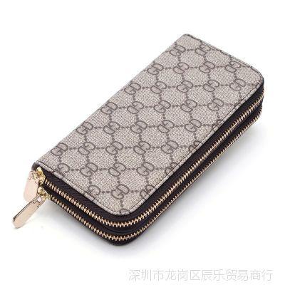 2018新款女士钱包长款大容量双拉链手拿钱包女双层手机包男士皮夹