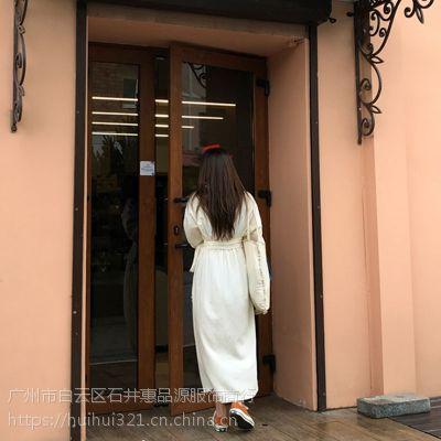 海贝北京大品牌服装尾货批发市场在哪里批发市场 广州折扣女装进货渠道微博尾货银色休闲套装