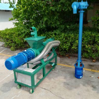 家用小型泔水分离机 螺旋压榨脱水机 润华鸡粪挤干干湿分离机