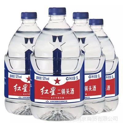 北京红星 5L*4瓶桶装红星二锅头52度 高级清香型 整箱装 物流自提