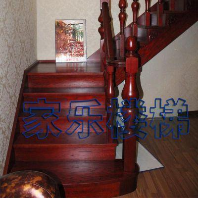 四平市厂家定制实木楼梯、楼梯护栏、扶手、旋转楼梯包安装