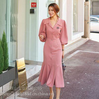 伊袖国际品牌折扣女装折扣女装 原单尾货服装批发红色外套