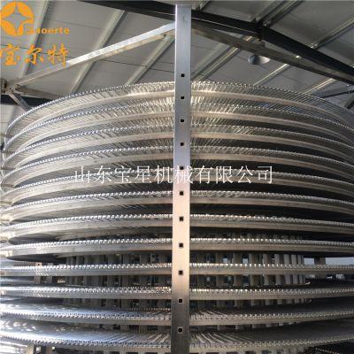 鸡排螺旋式速冻机 产量高 速冻调理品加工生产线