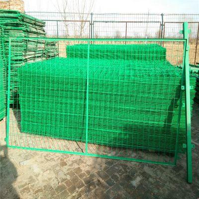 小区护栏网 框架隔离栅 绿色围墙网