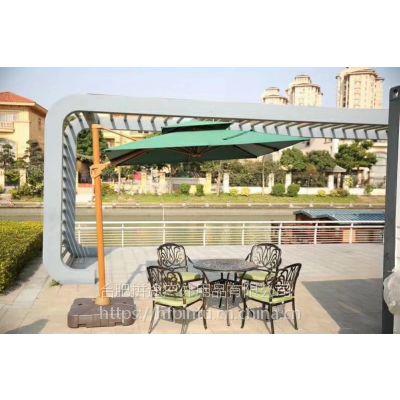合肥户外庭院桌椅休闲伞组合太阳伞遮阳伞适合房产售楼处开盘咖啡厅开业桌椅伞