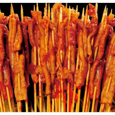 餐饮特色小吃加盟项目——广东味上王烤鸭肠网红街边小吃加盟电话