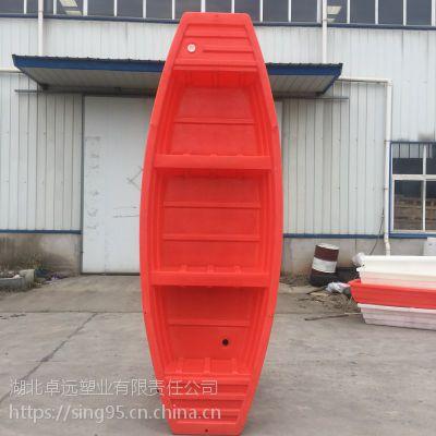 3.4米双平头双层塑料渔船 渔民专用捕鱼船 塑胶船