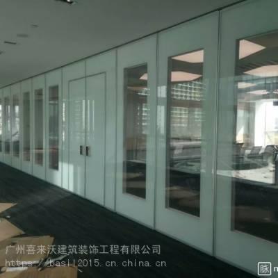 全自动酒店隔断 电动折叠移门 电动玻璃移门生产厂家