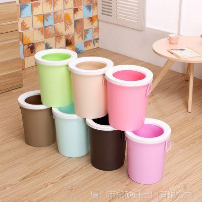 家用垃圾桶创意客厅大号圆形无盖垃圾篓塑料厨房厕所卫生间垃圾桶