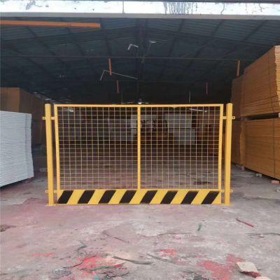 工地施工基坑临边护栏 安平喷塑黄黑基坑隔离防护网