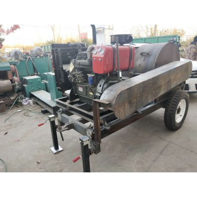 卓辉生产大型移动式木材粉碎机 圆木粉碎机