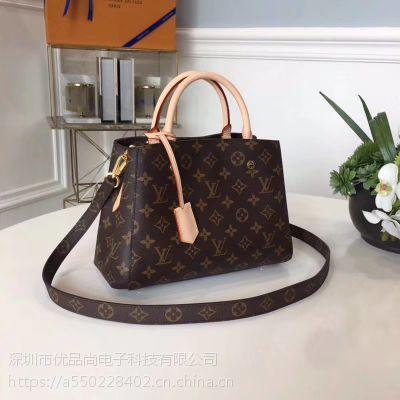 Louis Vuitton/路易威登2018新款早夏LV时尚BB手提包M41055女包