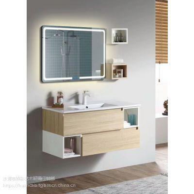 洗手间椭圆无框LED防雾灯镜 浴室壁挂卫浴镜卫生间台盆镜子