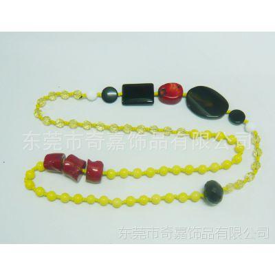 生产厂家供应 新款塑料压克力手工珠子项链毛衣链