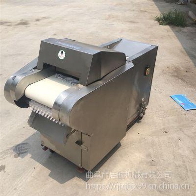 不锈钢黄瓜年糕切片机 农户土豆切块机 启航三相电糍粑切片机价格