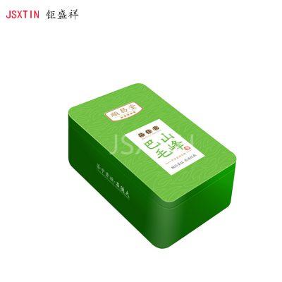 毛峰茶铁盒 长方形绿茶马口铁包装铁盒