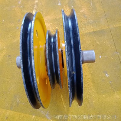 厂家直销 起重全配件 铸钢滑轮组 行车天车定滑轮片