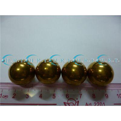 25.4大铜球广东少量现货1英寸inch黄铜珠15.875mm铜珠实心19.05可大批量订做