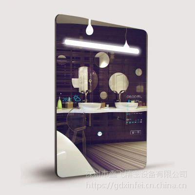 鑫飞XF-GG22MM 21.5寸立式镜面广告机网络播放器智能镜子智能分屏高清显示器液晶显示器