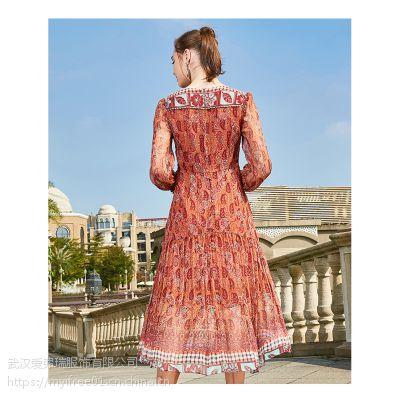 【代卖货源】全国服装拿货网站风韵雅洋气条纹裙