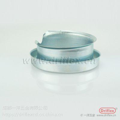 专业定制包塑金属软管线管护口 软管保护铁套 螺纹式软管牙圈φ15