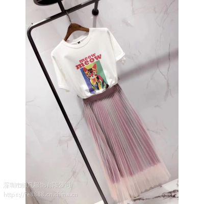 杭州尾货衣服批发市场哪里有折扣大码外贸女装T血批发
