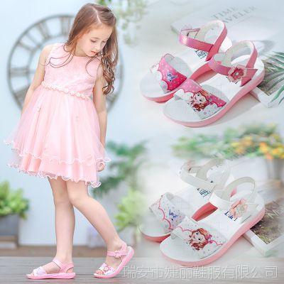 女童凉鞋2018新款儿童公主鞋学生中大童鞋防滑韩版夏季小女孩凉鞋