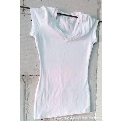 女式T恤 空白T恤衫 彩色T恤 热转印手绘 烫钻服装
