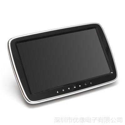 厂家直销9寸高清汽车载头枕mp5显示器后座排娱乐带系统触摸按键