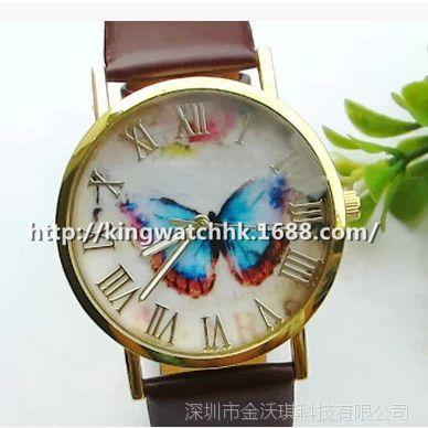 清仓特价  欧美流行时尚皮带手表 蝴蝶表 四色入 有现货