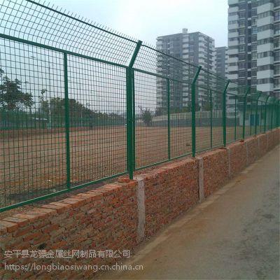 工地临边护栏网 学校操场围栏网 桃型柱围栏