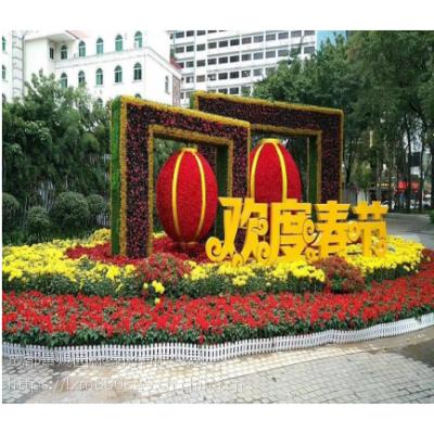 灯光稻草人植物雕塑 成都绿雕厂家 四川厂家制作