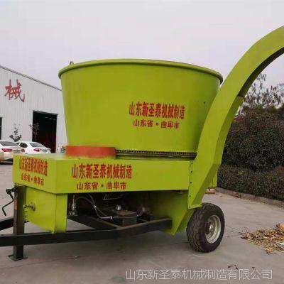大型圆桶破碎机 撒肥车 秸秆粉碎机