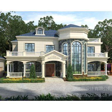AT1835大气简欧式二层私人休闲度假别墅设计图纸及外观效果图