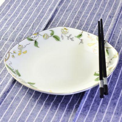 厂家批发8寸汤盘 骨瓷方盘 陶瓷餐具套装 骨瓷盘子可定制logo