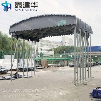 尚义县伸缩推拉蓬制作首先鑫建华大型雨棚布厂家