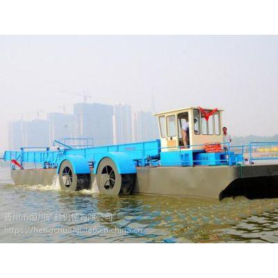 出售全自动水上保洁船 小型水草船图片