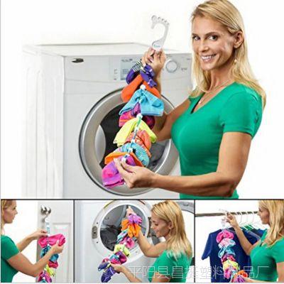 亚马逊TV爆款sock origanizer挂袜器无痕挂钩清洗辅助洗袜子神器