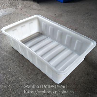 100L塑料方盆 蔬菜种植盆 泡瓷砖方箱 泥鳅黄鳝龙虾盆 100升饲料肥料搅拌盆
