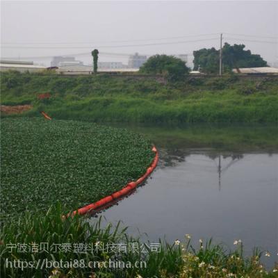 应城水上漂浮物拦截浮漂直径20公分拦污塑料浮筒