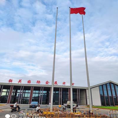 金聚进 安徽滁州不锈钢锥形旗杆 电动手动一体式国旗杆