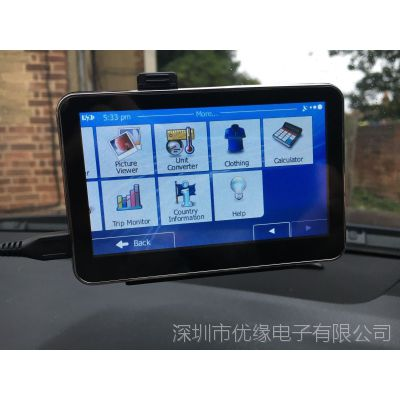 车载便携式GPS导航仪  480×272像素分辨率的TFT液晶显示屏